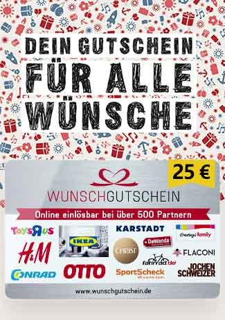 Official Wunsch-Gutschein 25 Euro Code (for Germany)