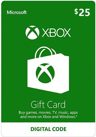 Official Xbox Live 25 USD Gift Card