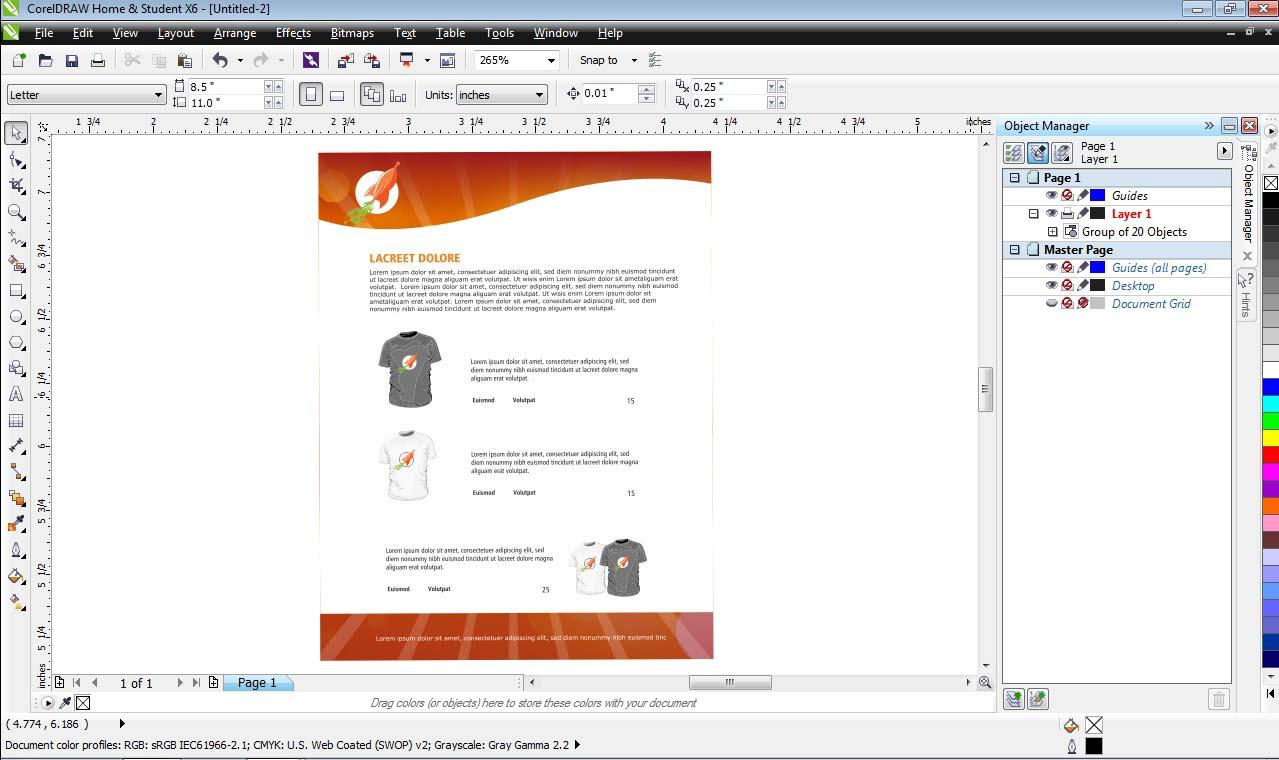 CorelDRAW Home & Student Suite X6 3 PC