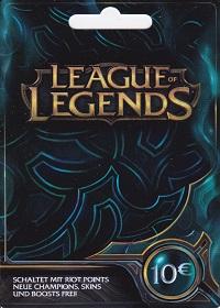 League of Legends 10 Euro Prepaid RP Card EU
