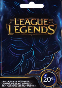 League of Legends 20 Euro Prepaid RP Card EU