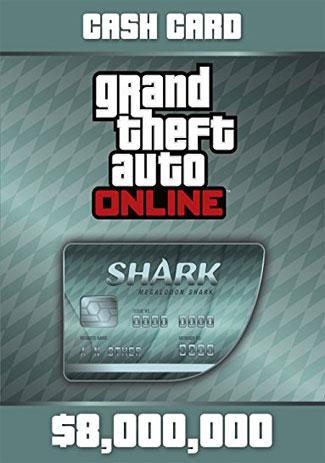Official GTA Online Cash Card - 8,000,000 $ - Megalodon Shark (PC)