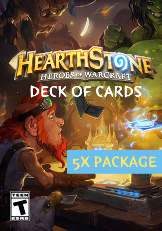 Hearthstone Heroes of Warcraft - Deck of Cards - 5 Package (DLC)