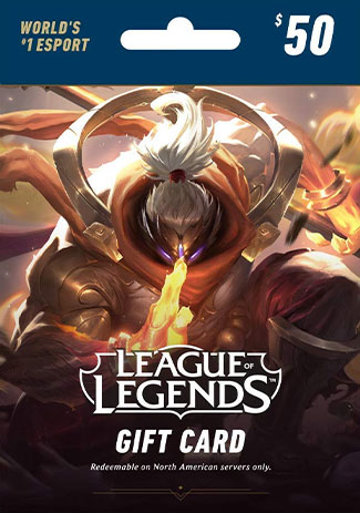 Official League of Legends 50 USD Prepaid RP Card US
