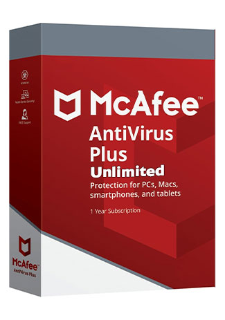 Official McAfee Antivirus Plus unlimited - 1 Year (Account)