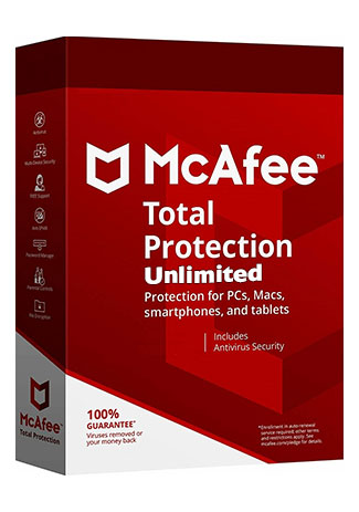 Official McAfee Total Protection unlimited - 1 Year (Account)