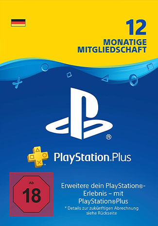 Official PlayStation Network Plus Card 365 Days DE