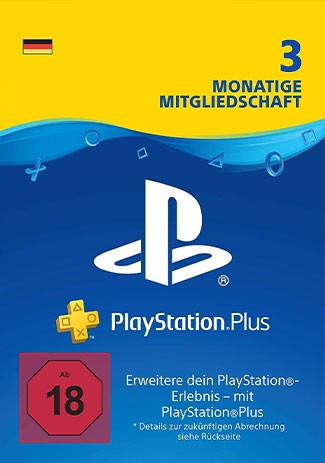 Official PlayStation Network Plus Card 90 Days DE