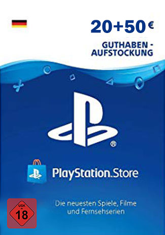 PSN 70 EUR / PlayStation Network Gift Card DE Store