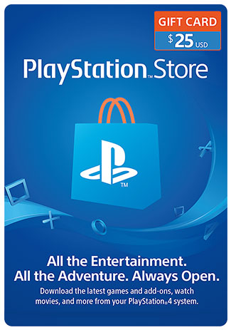 Official PSN 25 USD (US) - PlayStation Network Gift Card