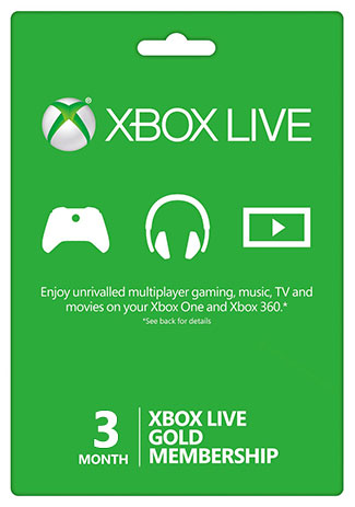 Official Xbox Live 3 Month Gold Membership (Xbox One/360/EU)