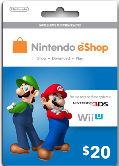 Nintendo Cards 20 USD
