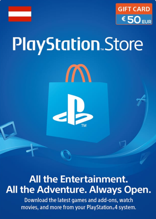 Official PSN 50 EUR (AT) - PlayStation Network Gift Card
