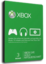 Official Microsoft Xbox Live 3 month Gold Subscription Card [Xbox 360/XboxOne]