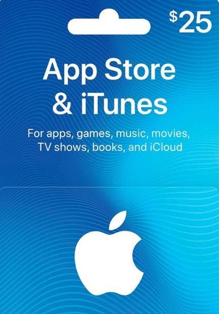 Apple iTunes $25 Gutschein-Code US iPhone Store фото